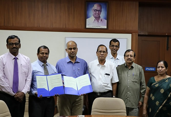 MOU with PSG College of Technology, Coimbatore, India.