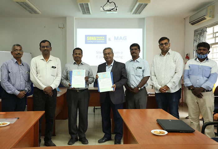 MOU with SONA College of Technology, Salem, India